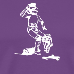 Ewok and Storm Trooper Bar Fight - Men's Premium T-Shirt