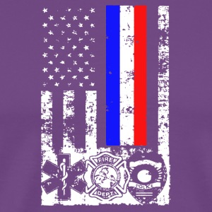 EMT First Responder Flag Tee Shirt - Men's Premium T-Shirt