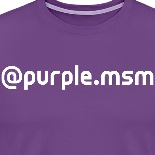 purple.msm - Men's Premium T-Shirt