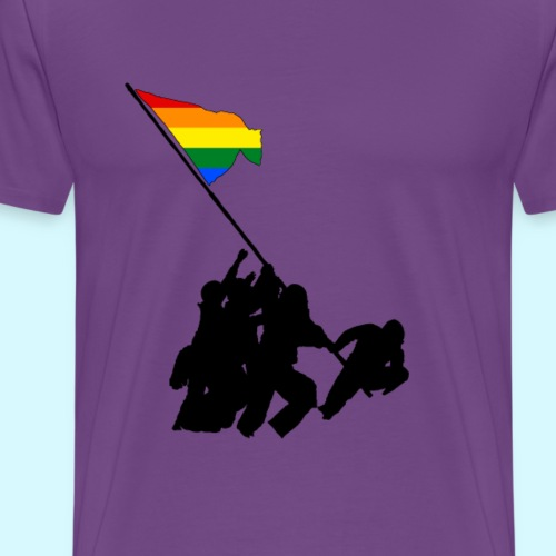 Raising the Flag on Pride - Men's Premium T-Shirt