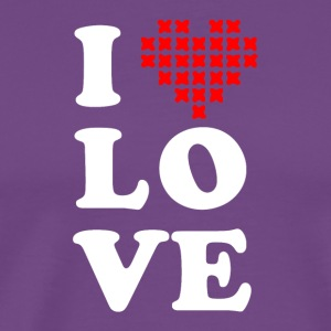 I love cross stitch - Men's Premium T-Shirt