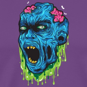 zombie head - Men's Premium T-Shirt