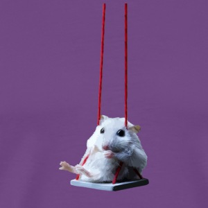 Mouse On A Swing - Men's Premium T-Shirt