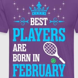 Best Players Are Born In February - Men's Premium T-Shirt