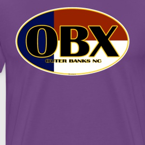 OBX Outer Banks North Carolina Flag - Men's Premium T-Shirt