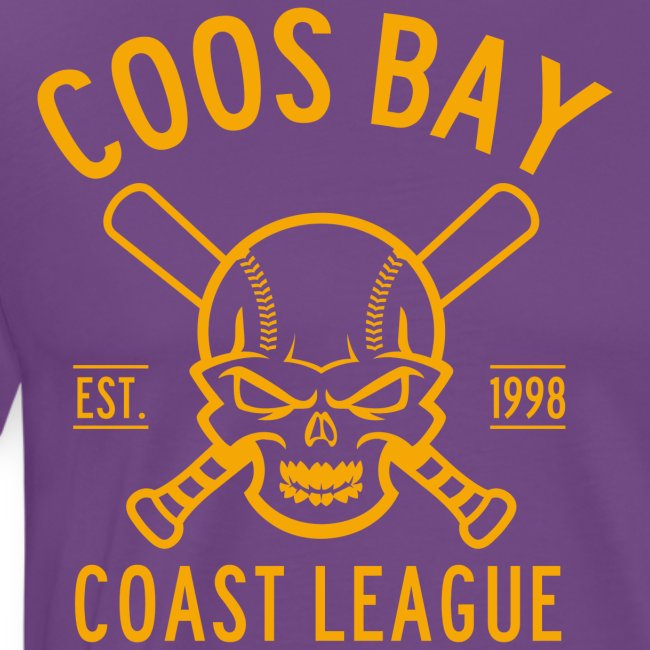 Coos Bay Coast League 1-color Gold
