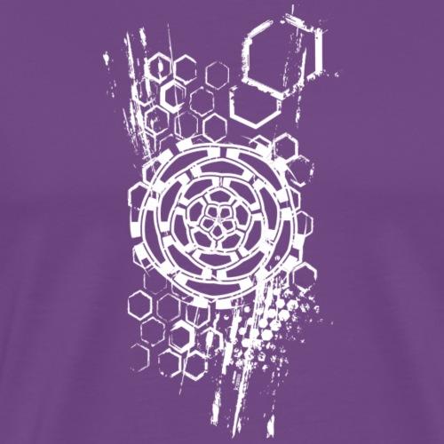 honeycomb flower - Men's Premium T-Shirt