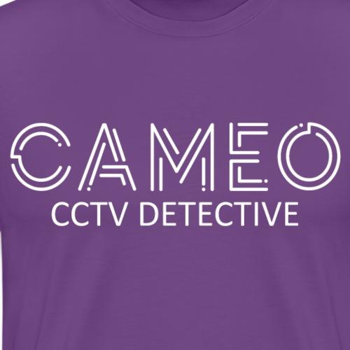 CAMEO CCTV Detective (White Logo) - Men's Premium T-Shirt