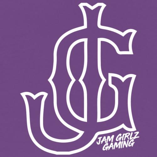 Interlocking White JG Logo - Men's Premium T-Shirt