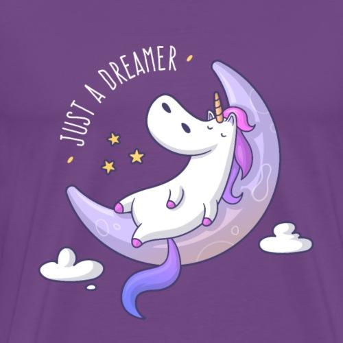Just a Dreamer - Dreamy Unicorn - Men's Premium T-Shirt