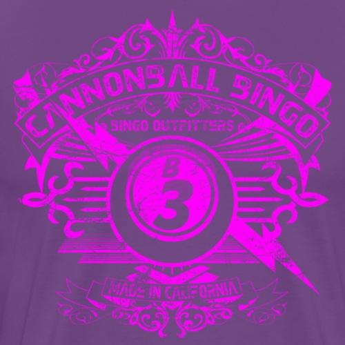 Vintage Cannonball Bingo Crest Pink - Men's Premium T-Shirt