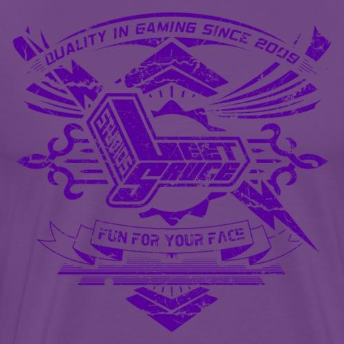 Vintage Leet Sauce Studios Crest Purple - Men's Premium T-Shirt