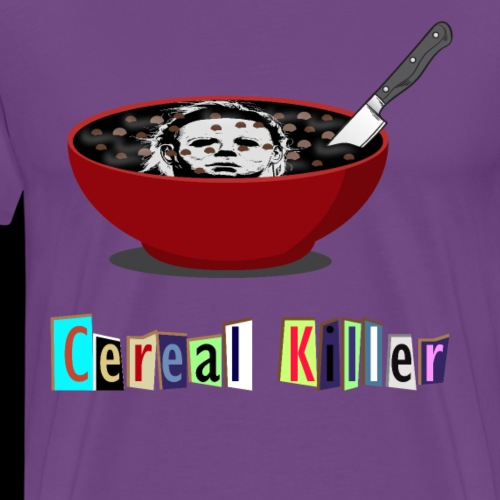 Cereal Killer | Funny Halloween Horror - Men's Premium T-Shirt