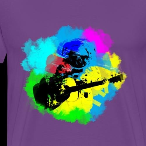 Astronaut Guitar Jams | Art & Science - Men's Premium T-Shirt