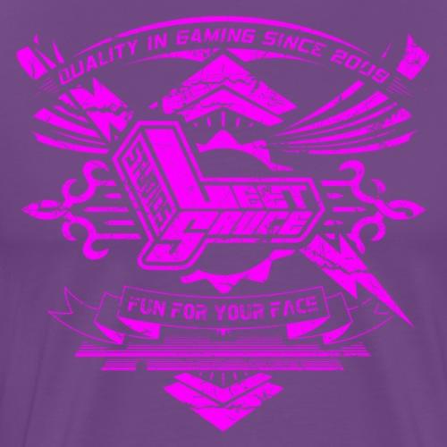 Vintage Leet Sauce Studios Crest Pink - Men's Premium T-Shirt