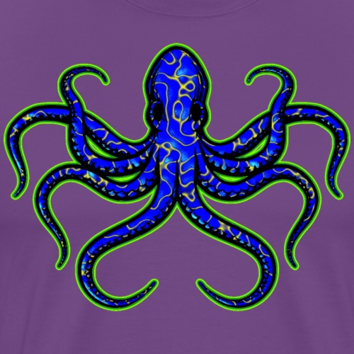 Blue-Ringed Octopus - Very Deadly - Men's Premium T-Shirt