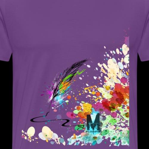 Melographics Quill Splatter - Men's Premium T-Shirt