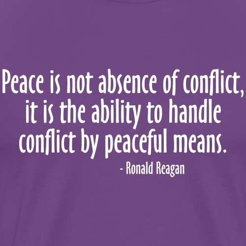 PEACEFUL MEANS (QUOTE)