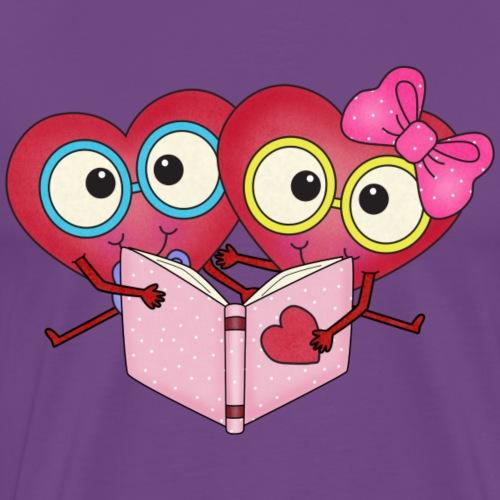 happy Heart Readers1 png - Men's Premium T-Shirt