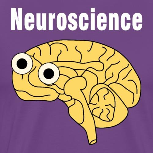 Neuroscience Brain White Text - Men's Premium T-Shirt