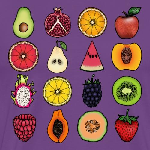 Fruit Grid 4x4 - Men's Premium T-Shirt