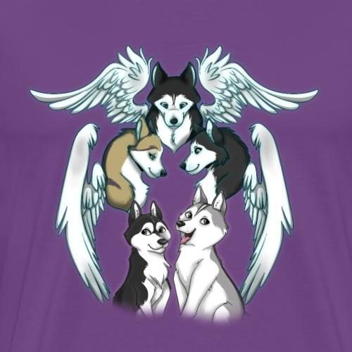 Siberian Husky Angels - Men's Premium T-Shirt