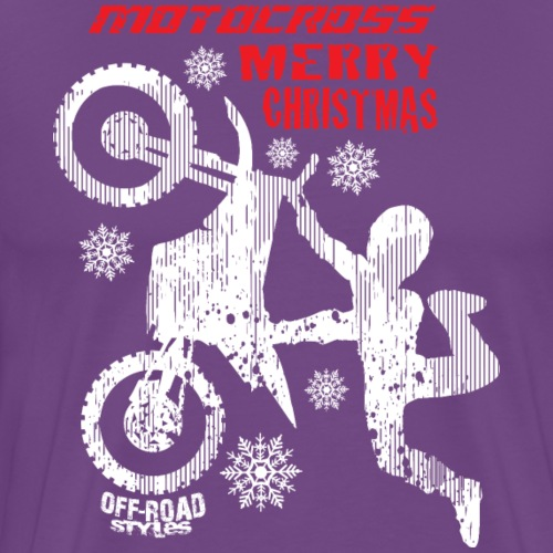 Motocross Merry Christmas - Men's Premium T-Shirt