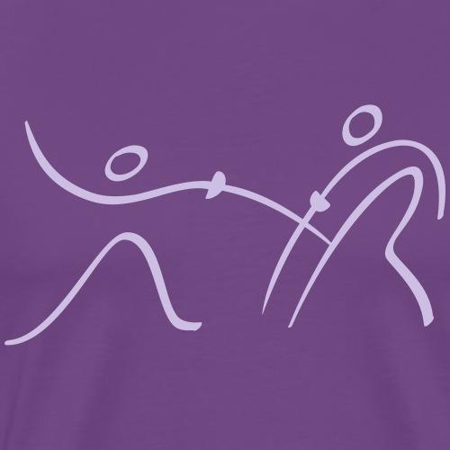 Fencing Pictogram - Men's Premium T-Shirt