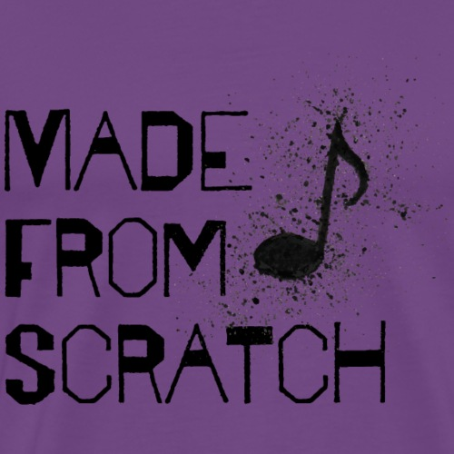 Made From Scratch | Music Note - Men's Premium T-Shirt