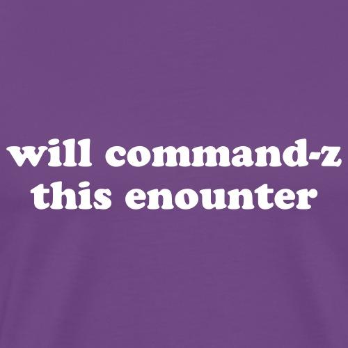Funny Apple Command Z Quote - Men's Premium T-Shirt