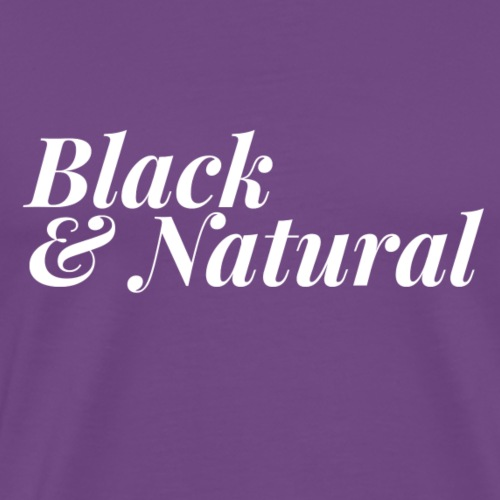 Black & Natural Women's - Men's Premium T-Shirt