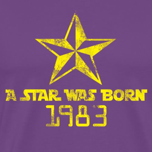 a star was born 1983 - Men's Premium T-Shirt