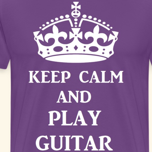 keep calm play guitar wht - Men's Premium T-Shirt