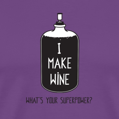 I make Wine Superpower (Black & white) - Men's Premium T-Shirt