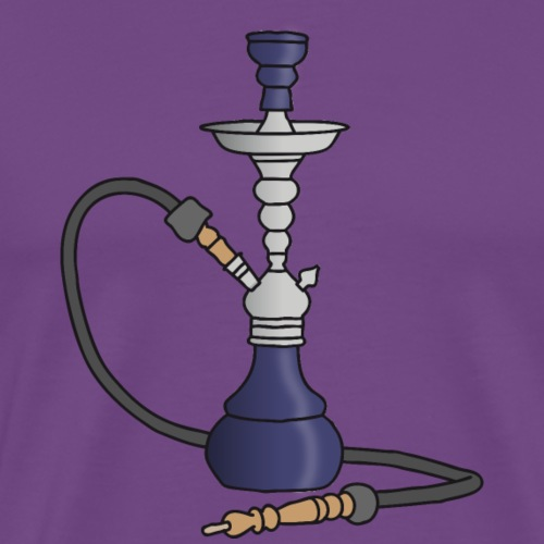 Shisha water pipe (violet) - Men's Premium T-Shirt