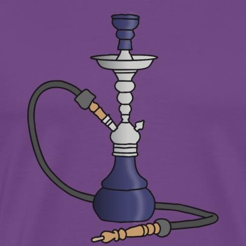 Shisha water pipe (violet) - Men's Premium T-Shirt