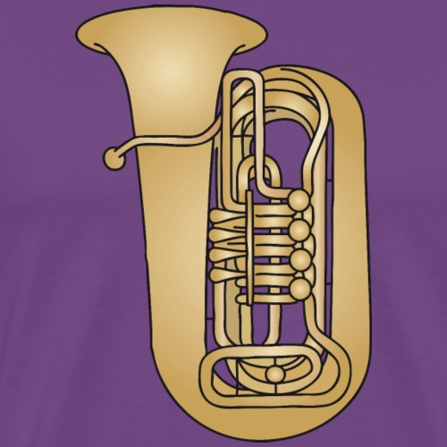 Tuba brass - Men's Premium T-Shirt