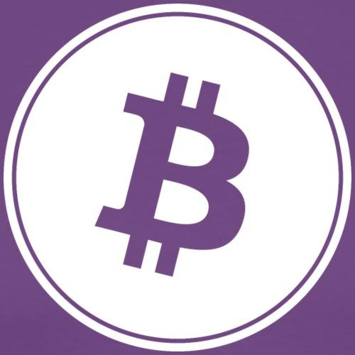 Bitcoin in White Transparent. - Men's Premium T-Shirt