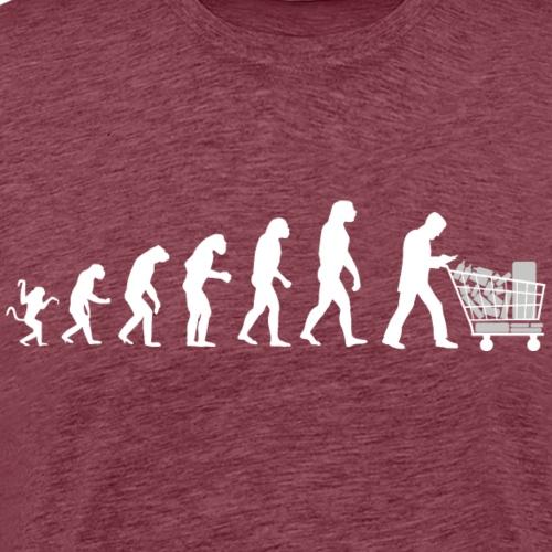 Evolution of man parody : just for that ! - Men's Premium T-Shirt