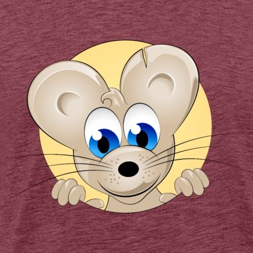 Animal head mouse rat wildlife cartoon funny image - Men's Premium T-Shirt