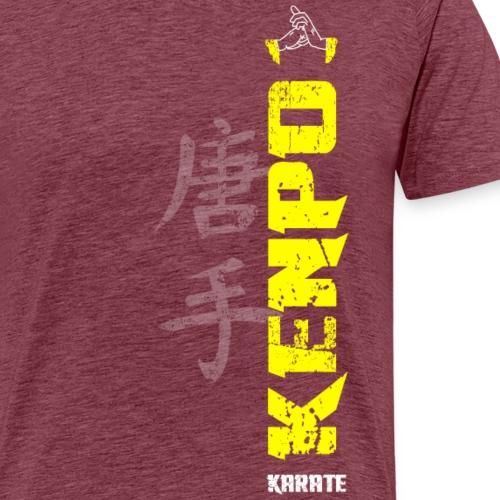 vertical kenpo with chinese kanji yellow - Men's Premium T-Shirt