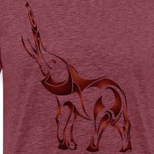 Abstract animal elephant wildlife vector drawing - Men's Premium T-Shirt