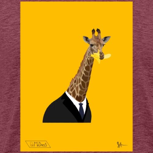 Suited Up Giraffe - Men's Premium T-Shirt