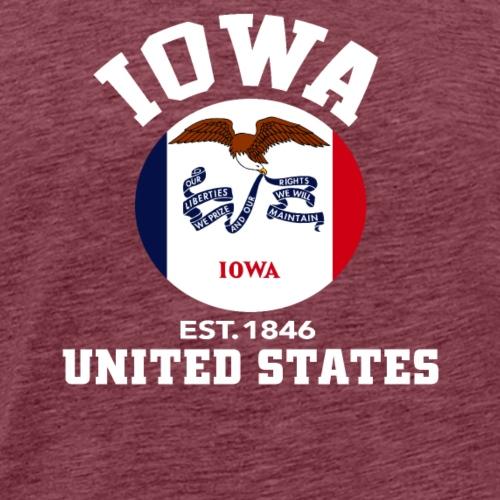 Iowa USA Est 1846 Patriotic Flag T Shirt - Men's Premium T-Shirt
