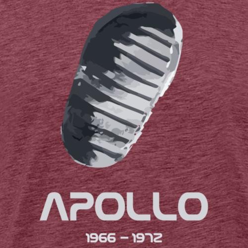Bootprint on Moon - Men's Premium T-Shirt