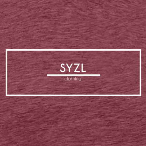SYZL Transparent White Logo - Men's Premium T-Shirt