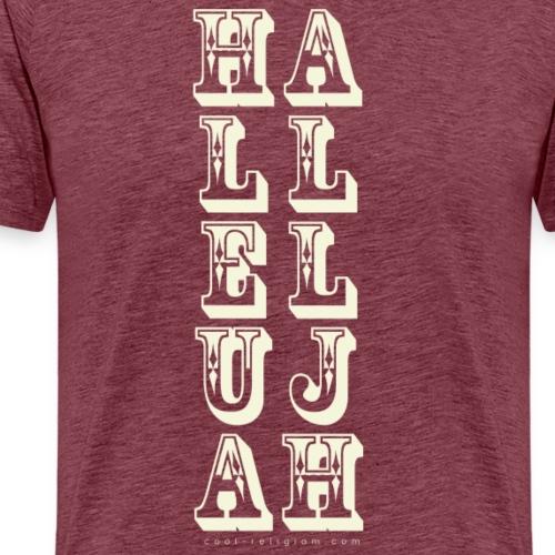 Hallelujah - Wild West Style - Men's Premium T-Shirt