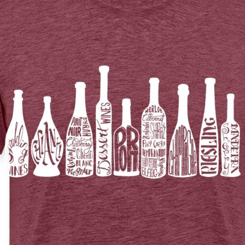 Wine Bottles- White - Men's Premium T-Shirt