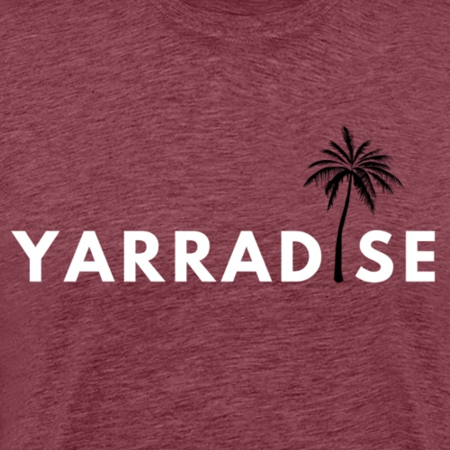 Yarradise Palm: White text - Men's Premium T-Shirt