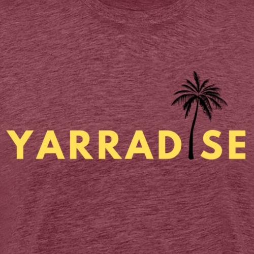 Yarradise Palm: Yellow text - Men's Premium T-Shirt